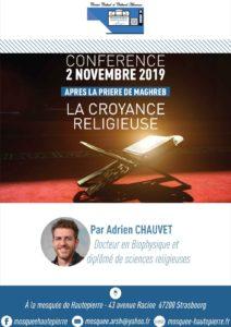 conférence La croyance religieuse 2 novembre 2019